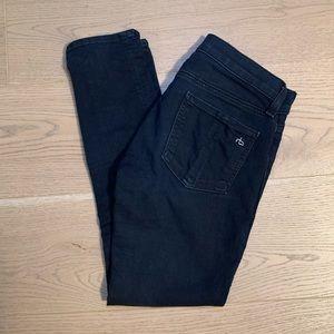 Rag & Bone Stretch Capri Midnight Black Jeans